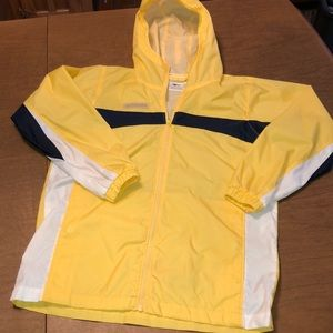 VTG Yellow Lightweight Windbreaker Jacket Sz 10/12
